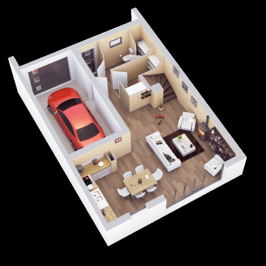 Plan de vente, rez-de-chaussée, Montaudran, 2015