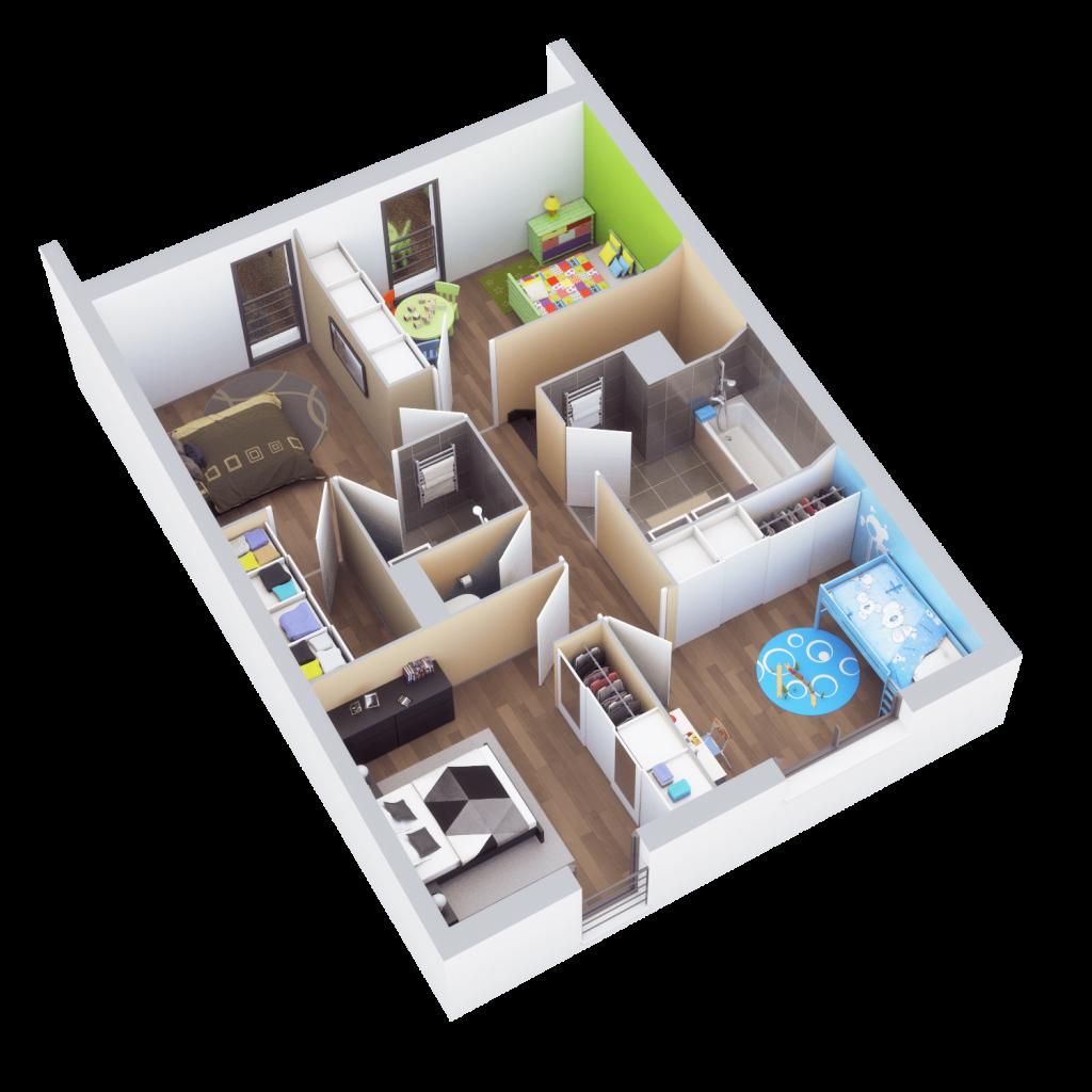 Plan de vente, étage, Montaudran, 2015